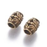 Tibetan Antique Bronze Metal Beads, Lead Free & Cadmium Free, 8.5mm in diameter, 10.5mm thick, hole: 4.5 mm