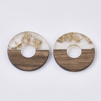 Colgantes de resina transparente y madera de nogalRESI-S358-03-A01-1