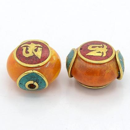 混合手作りチベット風のビーズTIBEB-N001-28-1