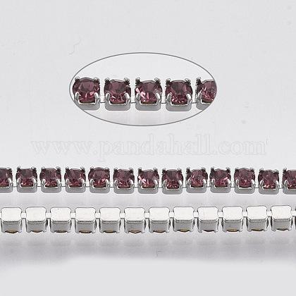 304 acero inoxidable cadena de strass de rhinestoneSTAS-T055-07P-1