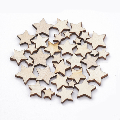 Cuentas de madera natural sin teñirWOOD-N002-02-1