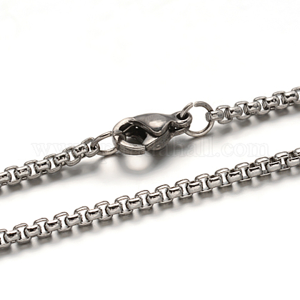 304 Stainless Steel Box Chain  NecklacesSTAS-L164-03P-1