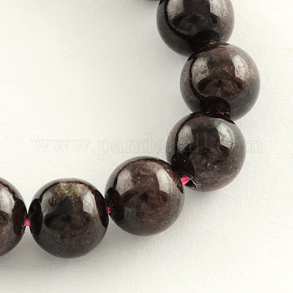 Natural Garnet Gemstone Bead Strands G-R263-8mm-1