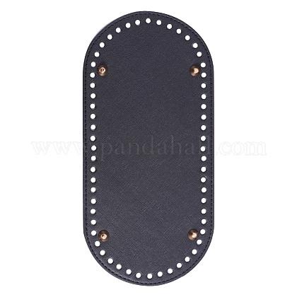Pu cuero oval largo inferior para tejer bolsaFIND-WH0032-01A-1