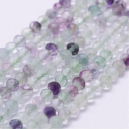 Natural Fluorite Beads StrandsG-J363-07-4mm-1