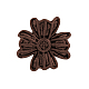 Tibetan Style Alloy Flower Buttons X-TIBE-2736-R-NR-1