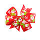 Pinzas de pelo de caimán grosgrain de NavidadOHAR-Q053-M-2