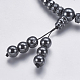 Non-magnetic Synthetic Hematite Mala Beads NecklacesNJEW-K096-11C-4