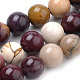 Natural Mookaite Beads Strands, Round, 8mm, Hole: 1mm; about 50pcs/strand, 15.7inches