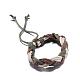 Trenzadas ajustables pulseras cordón de cuero unisexBJEW-BB15532-4
