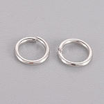 Sterling Silver Jump Rings, Round Rings, Close but Unsoldered, Platinum, 6x0.8mm