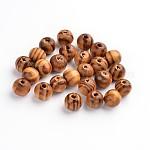 天然木のビーズ, スペーサービーズ, diyマクラメロザリオジュエリー用, 無鉛の, ラウンド, バリーウッド, 直径8mm, 穴:2.5mm