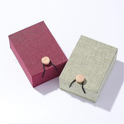 Cajas colgantes de arpillera y telaOBOX-D004-M-1