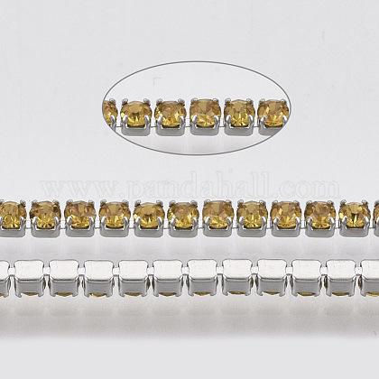 Chaîne tasse strass en 304 acier inoxydableSTAS-T055-10P-1