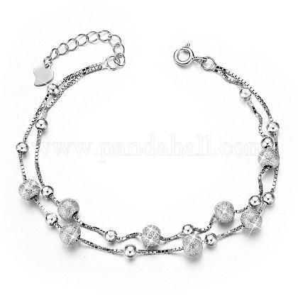 SHEGRACE® 925 Sterling Silver Multi-strand BraceletsJB406A-1