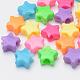 Abalorios de plástico, estrella, color mezclado, 10x11x5mm, Agujero: 3.5 mm; aproximamente 2500 unidades / 500 g