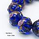 Handmade Gold Sand Lampwork Beads StrandsLAMP-G046-18x16mm-1-1