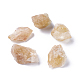 Rough Raw Natural Citrine Beads, Undrilled/No Hole Beads, Nuggets, 30~46x22~29x14~26mm; about 5pcs/100g, 100g/bag
