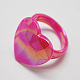 Kids Valentines Day Gifts Acrylic Rings for Kids RJEW-S618-6-2