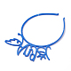 Rubberized Style Plastic Fluorescent Color Hair BandsOHAR-T003-25-3