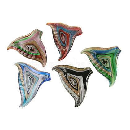 Handmade Silver Foil Glass PendantsX-SLSP229-1