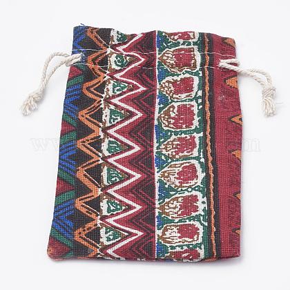 ポリコットン(ポリエステルコットン)パッキングポーチ巾着袋ABAG-T006-A22-1