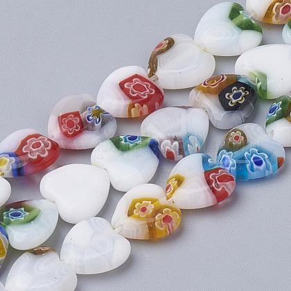 Handmade Millefiori Lampwork Beads StrandsLAMP-T005-26-1