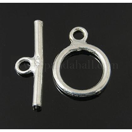 Anillo de plata de ley cierres de palancaX-STER-A008-16-1