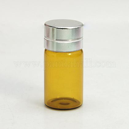 Botella de cristal frasco de vidrio para envases de abaloriosCON-E003-34x16mm-1