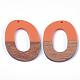 Colgantes de resina y madera de nogalRESI-S358-48-2