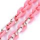 Collares personalizados de cadena de cable de plástico acrílico y ccbNJEW-JN02824-4