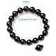 SUNNYCLUE® Natural Black Agate Round Beads Stretch BraceletsBJEW-PH0001-10mm-01-3