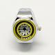 Platinum Tone Iron Stretch Ring Quartz WatchesRJEW-R119-14-2