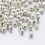 Iron Spacer Beads, Metal Findings for Jewelry Making Supplies, Silver Color Plated, 2.5x2mm, Hole: 1.5mm, about 590pcs/10g