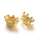 Gran agujero de los abalorios de la corona de latón, dorado, 14x11x7mm, agujero: 4.5x7 [7x11 mm y] mm