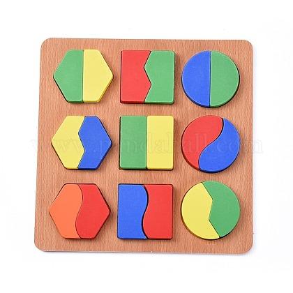 Bloques de construcción diy de madera de forma geométrica para niñosDIY-L018-15-1