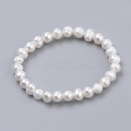 Pearl Stretch BraceletsPEAR-S012-58A-1