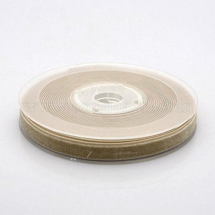 Ruban de velours en polyester pour emballage de cadeaux et décoration de festivalSRIB-M001-10mm-836-1