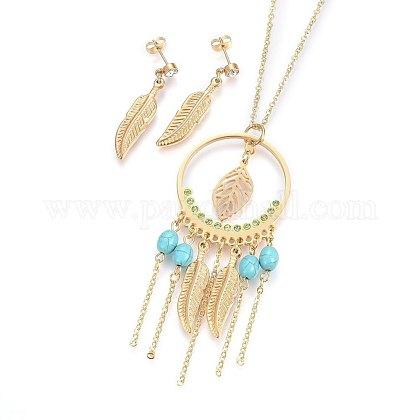 304 Stainless Steel Jewelry SetsSJEW-F181-37G-1