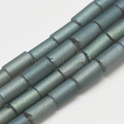 Abalorios de vidrio electroplate hebrasEGLA-Q080-01-1