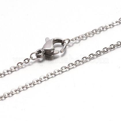 Collares de cadena de cable 304 acero inoxidableNJEW-E026-04P-1