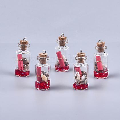 Decoraciones pendientes de cristal de la botella que deseaGLAA-S181-02D-1