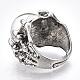 Anillos de dedo de aleación de vidrio ajustableRJEW-T006-02C-3