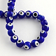 Round Handmade Evil Eye Lampwork Beads LAMP-R114-6mm-02-1