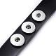Leather Chunk Bracelet MakingAJEW-R014-3-4
