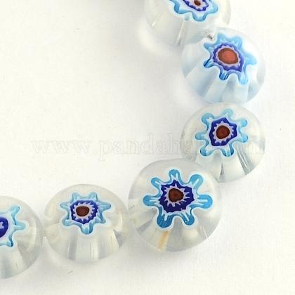 Hilos de abalorios de vidrio millefiori artesanalLK-R006-15J-1