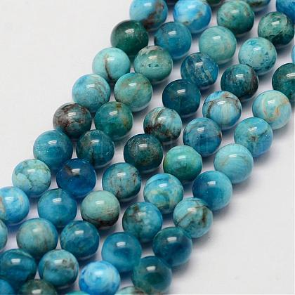 Natural Apatite Beads Strands G-D856-01-6.5mm-1