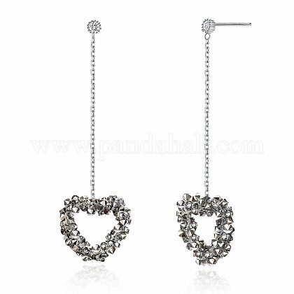 925 Sterling Silver Dangle Stud EarringsEJEW-BB30485-B-1