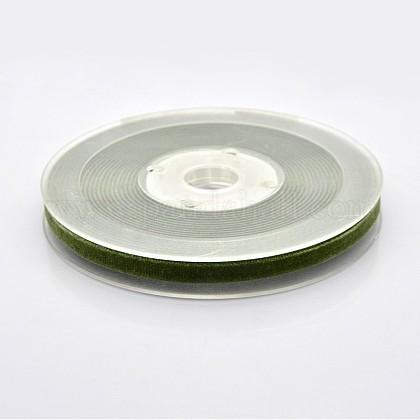 Ruban de velours en polyester pour emballage de cadeaux et décoration de festivalSRIB-M001-7mm-570-1
