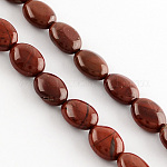 Natural Red Jasper Beads Strands, Oval, DarkRed, 10~11x8~9x5~6mm, Hole: 1mm; about 40pcs/strand, 16.1